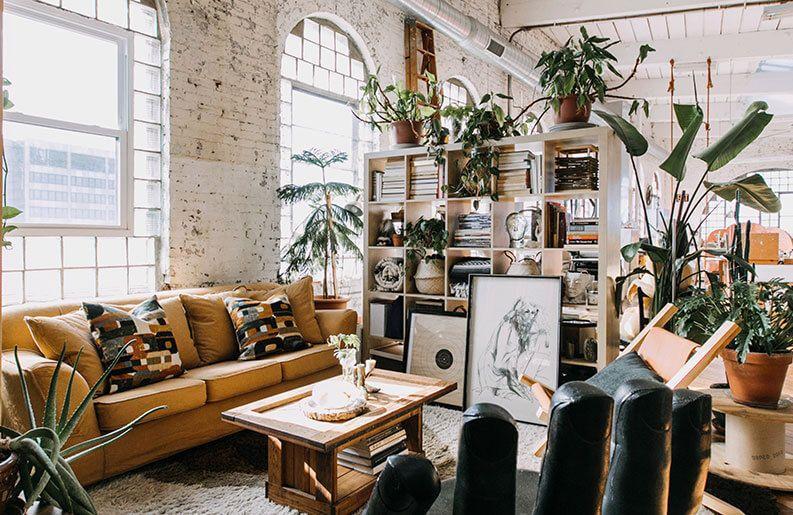 Decoración de interiores con estilo Boho-Chic