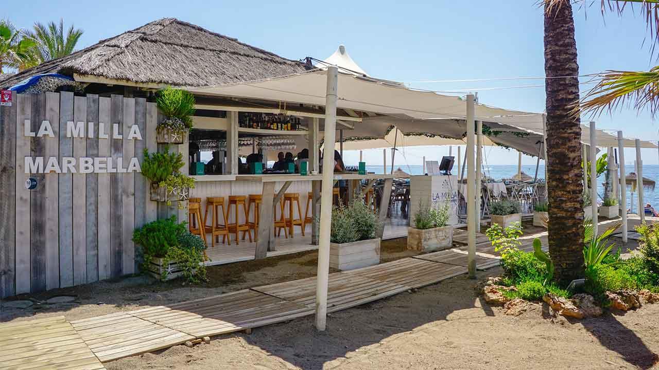 Foto exterior del chiringuito La Milla Marbella